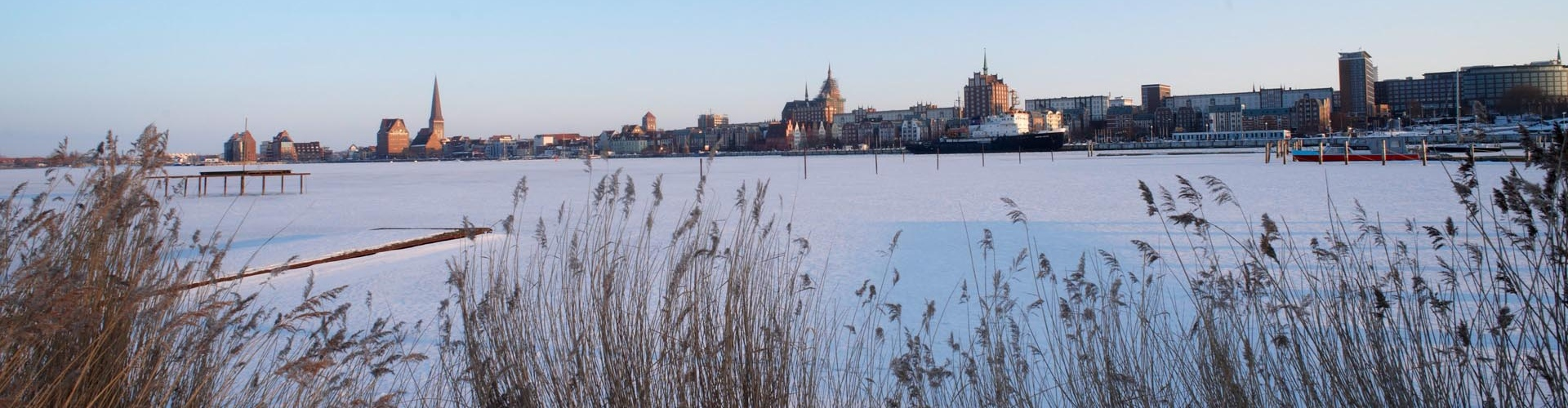 Rostock Warnow im Winter