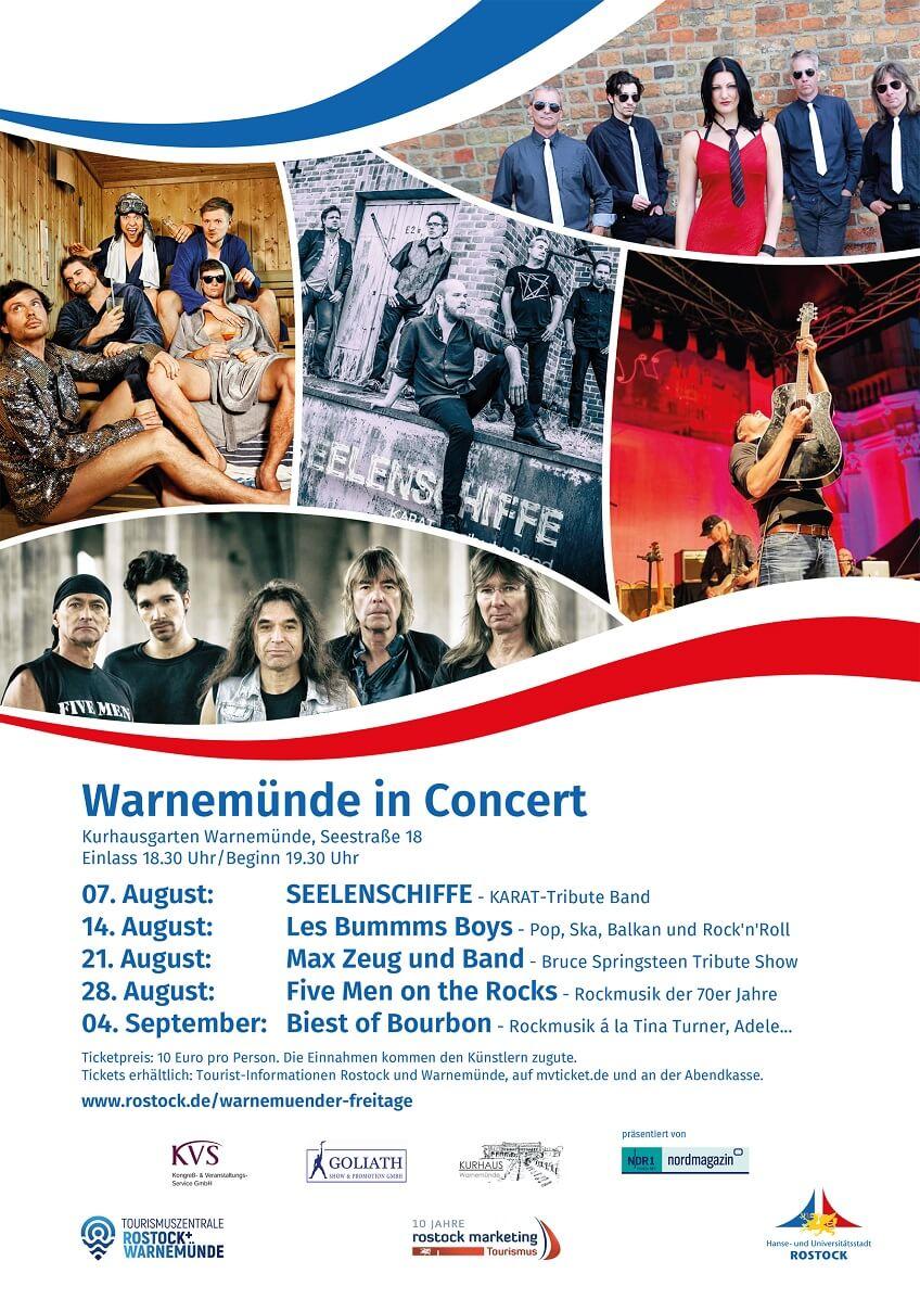 Plakat Warnemünde in Concert