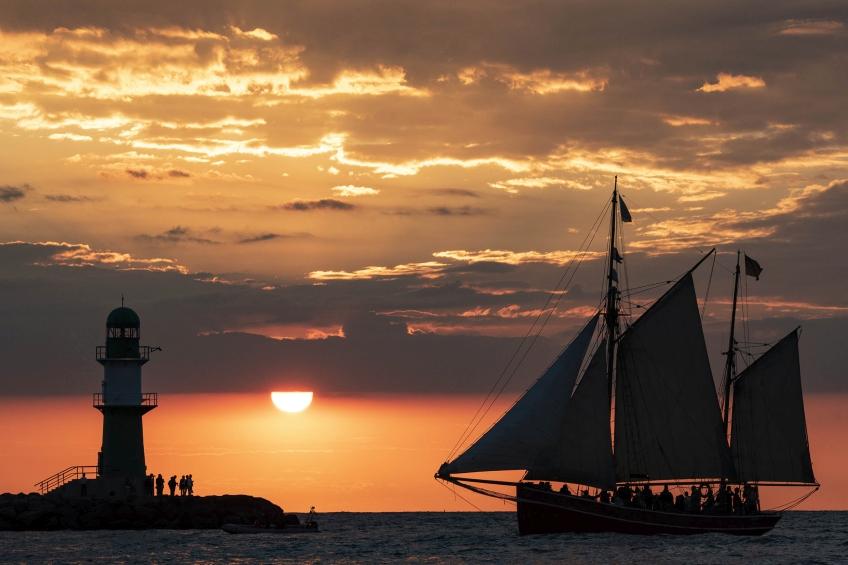 Sonnenuntergang Hanse Sail 2018